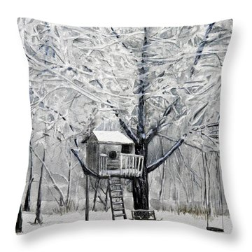 A Winter's Morn Throw Pillow by Terry Honstead