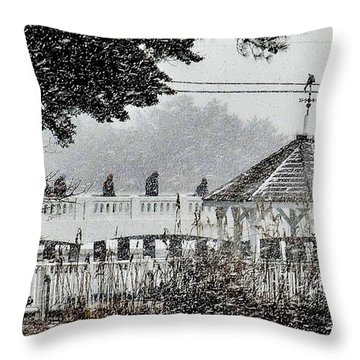 A Winter's Walk By Silver Lake Throw Pillow by Kim Bemis
