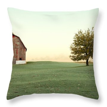 A Wisconsin Postcard Throw Pillow by Todd Klassy