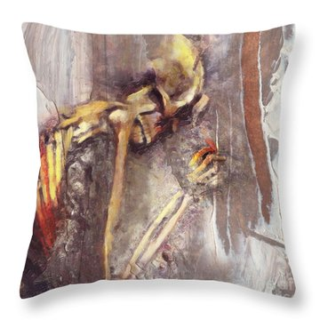 A Wish To Die Artistically Throw Pillow