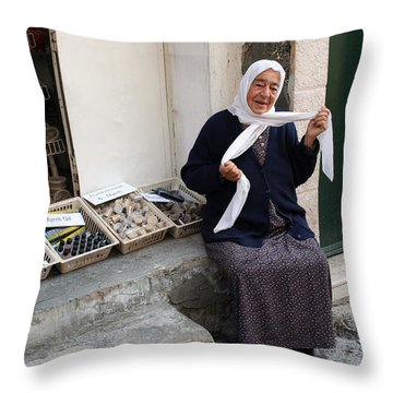 A Woman From Bethany Throw Pillow