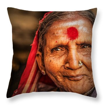 A Woman Of Faith Throw Pillow by Valerie Rosen