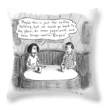 A Woman Says To A Man: Maybe This Throw Pillow