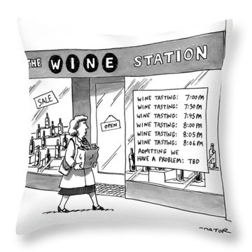 The Wine Station Throw Pillow