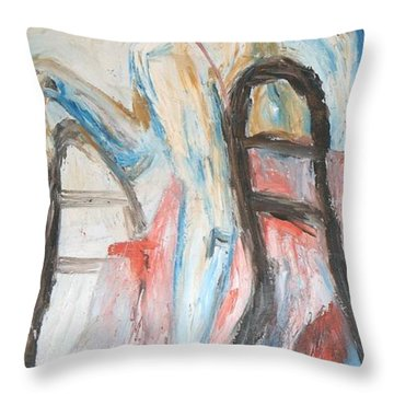 A Woman's Fate Throw Pillow by Esther Newman-Cohen