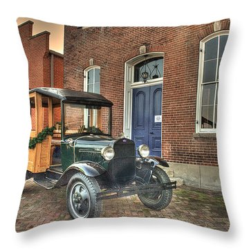 A Woody At The White House Throw Pillow by William Fields