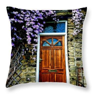 A Yorkshire Door Throw Pillow