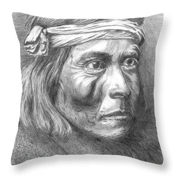 Shadow Catcher, A Zuni Governor Throw Pillow
