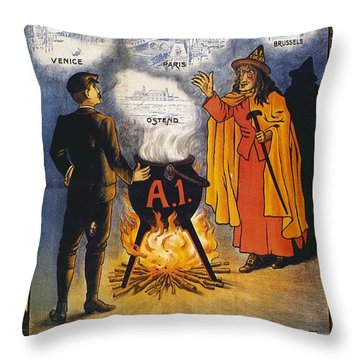 Throw Pillow featuring the photograph A1 Tours Vintage Travel Poster by Gianfranco Weiss