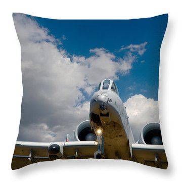 A10 Warthog Approach Landing Throw Pillow