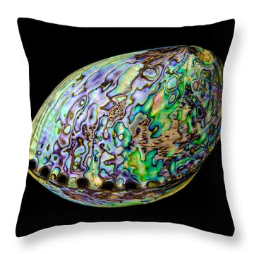 Abalone Shell Throw Pillow by Jim Hughes