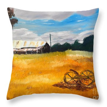 Abandon Farm Throw Pillow