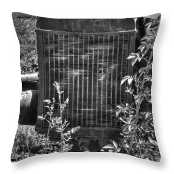 Abandon Tractor Throw Pillow by Diego Re