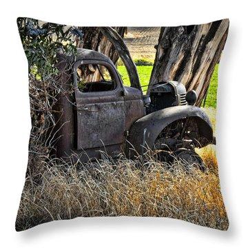 Abandon Truck Throw Pillow