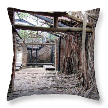 Abandon Warehouse  Throw Pillow