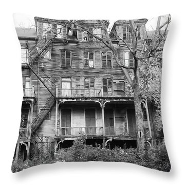 Abandoned 8284 Throw Pillow by Guy Whiteley