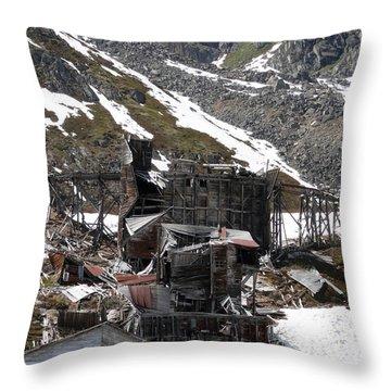 Abandoned Alaskan Gold Mine Throw Pillow