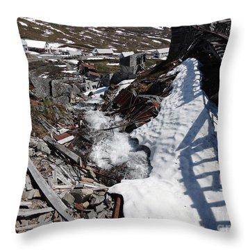 Abandoned Alaskan Gold Mine II Throw Pillow