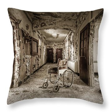 Abandoned Asylums - What Has Become Throw Pillow by Gary Heller