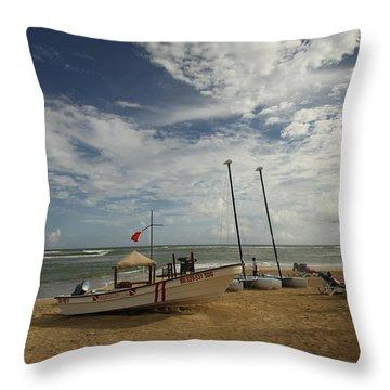 Abandoned Beach Throw Pillow