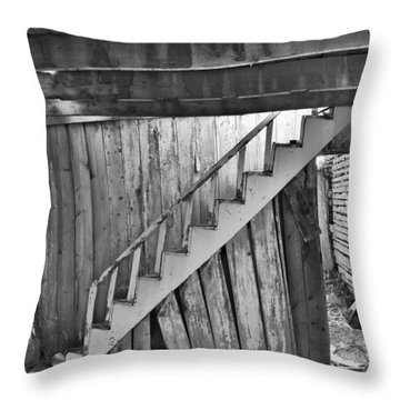 Abandoned Throw Pillow by Brady Lane