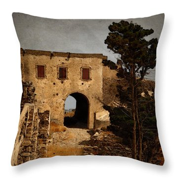 Abandoned Castle Throw Pillow by Christo Christov