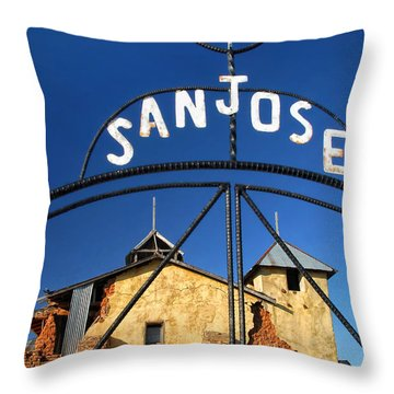 Abandoned Colonias Church Throw Pillow