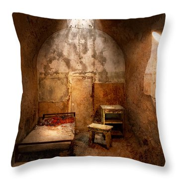 Abandoned - Eastern State Penitentiary - Life Sentence Throw Pillow by Mike Savad