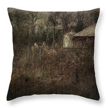 Abandoned Farm Throw Pillow by Cynthia Lassiter