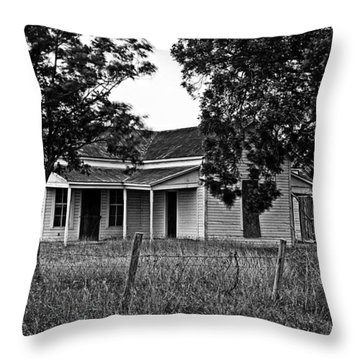 Abandoned Farmhouse Throw Pillow by Andy Crawford