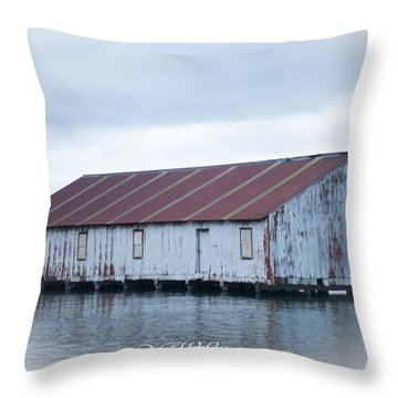 Abandoned Fishery Plant Throw Pillow