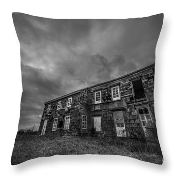 Abandoned History 2 Bw Throw Pillow