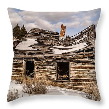 Abandoned Home Or Business Throw Pillow by Sue Smith