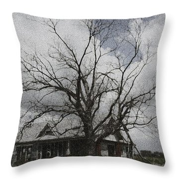 Abandoned House Throw Pillow by Donna G Smith