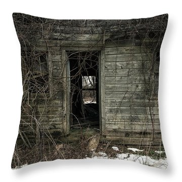 Abandoned House - Enter House On The Hill Throw Pillow by Gary Heller