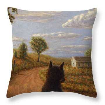 Abandoned House Throw Pillow by James W Johnson