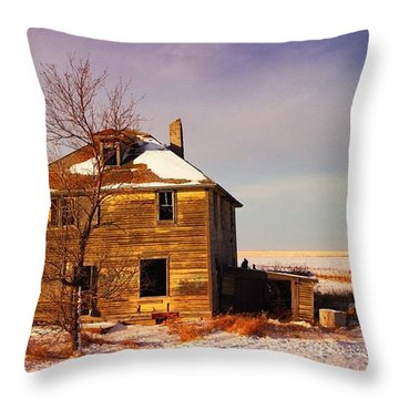Abandoned House Throw Pillow by Jeff Swan