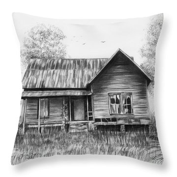 Abandoned House Throw Pillow by Lena Auxier