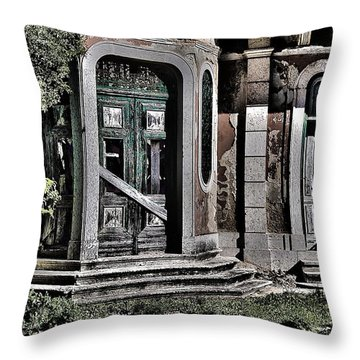 Abandoned House Throw Pillow by Marco Oliveira