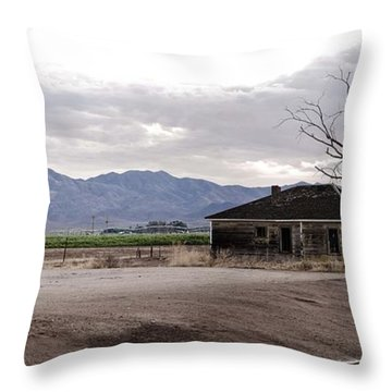 Abandoned House Throw Pillow by Swift Family