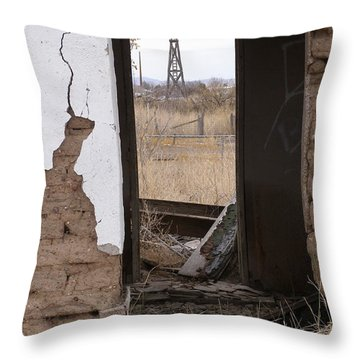 Abandoned In Texas Throw Pillow