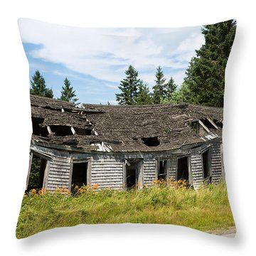 Throw Pillow featuring the photograph Abandoned by John M Bailey