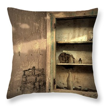 Abandoned Kitchen Cabinet Throw Pillow by RicardMN Photography
