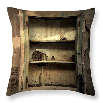 Abandoned Kitchen Cabinet Throw Pillow
