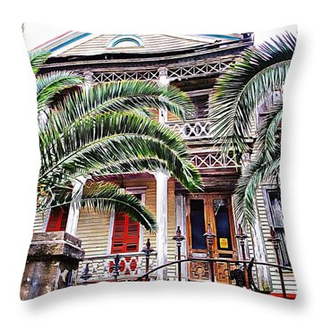 Abandoned Lady  Throw Pillow