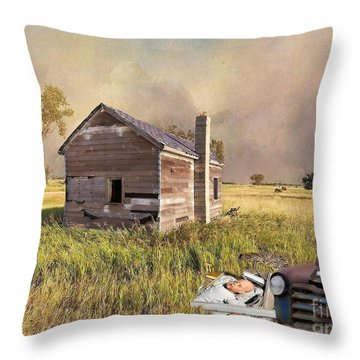 Throw Pillow featuring the photograph Abandoned by Liane Wright