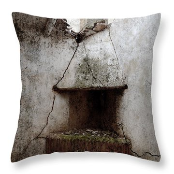 Abandoned Little House 2 Throw Pillow by RicardMN Photography