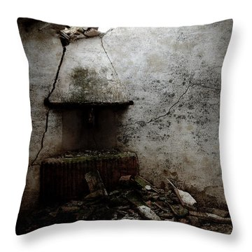 Abandoned Little House 3 Throw Pillow by RicardMN Photography