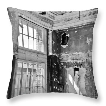 Throw Pillow featuring the photograph Abandoned Memories by Davina Washington