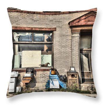 Throw Pillow featuring the photograph Abandoned by Mick Flynn